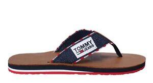 tommy hilfiger Jeans Schuhe Latschen f r Herren Sandalen Stoff Hausschuhe