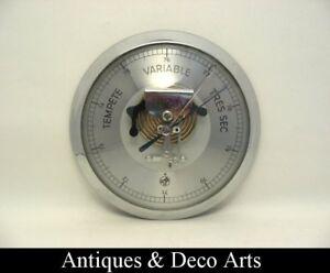 Vintage-barometer-chromed-metal-amp-glass-of-moco-moeller-oehmichen-amp-co