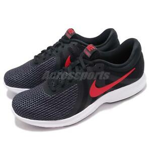 ce116633b4c82 Nike Revolution 4 Black Red Grey White Men Running Shoes Sneakers ...