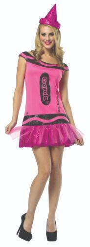 CRAYOLA COSTUME GLITZ /& GLITTER DRESS HEN PARTY CRAYON FANCY DRESS FIT SIZE 4-10