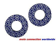 PSYCHIC HANDLEBAR GRIP DONUTS BLUE  -  MOTOCROSS YAMAHA YZ85 YZ125 YZ250 2012