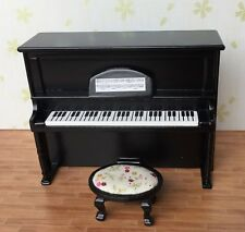 1/12 Scale Dollhouse Music Room Furniture Instrument Wooden Piano U0026 Stool  HE005G