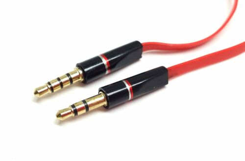 2Pack 3.5MM RED AUX CABLE CORD IN LINE MIC FOR SKULLCANDY CRUSHER HEADPHONES NEW