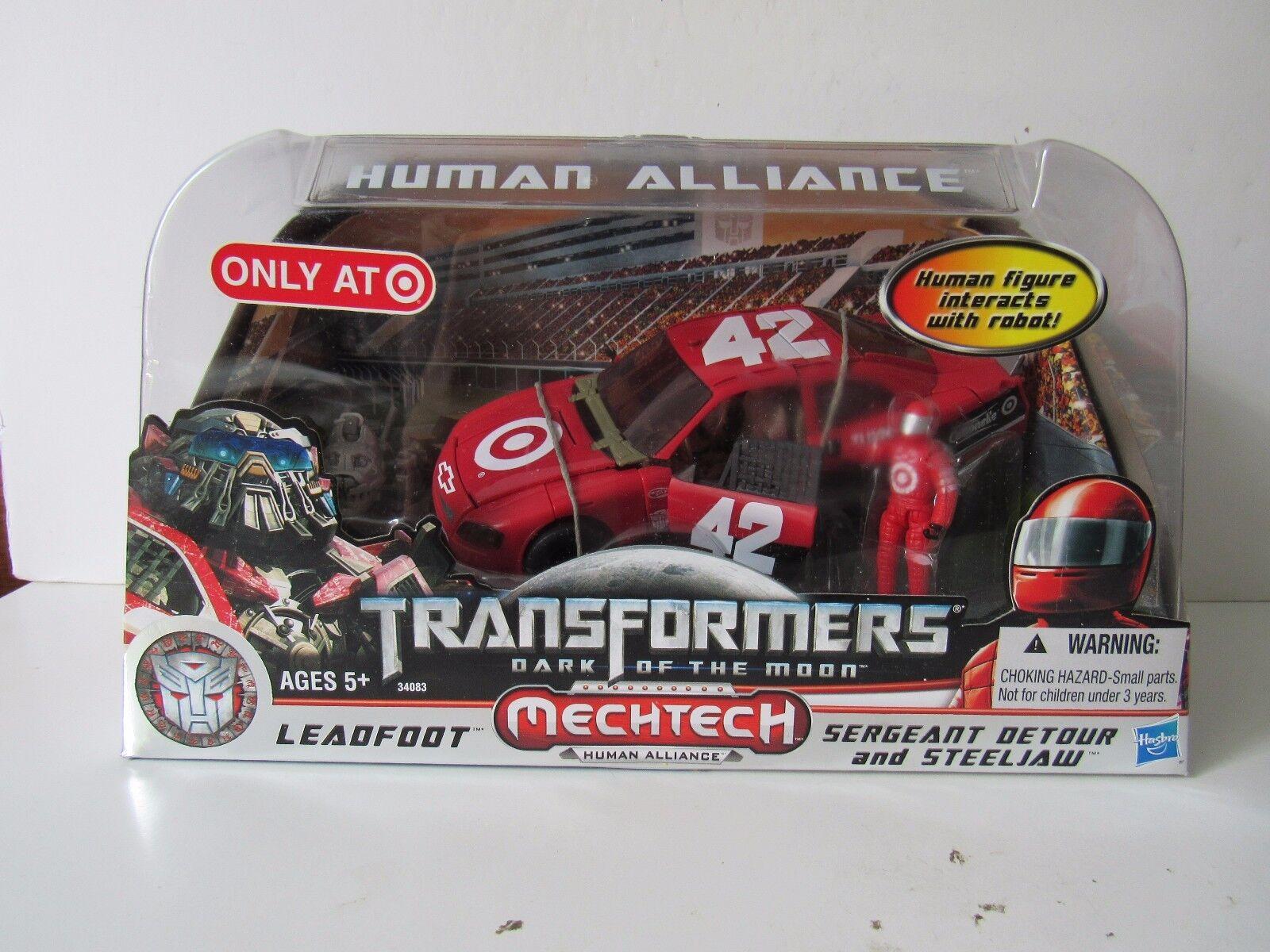 Transformers Target Exclusive DOTM Human Alliance Leadfoot w Sergeant Detour