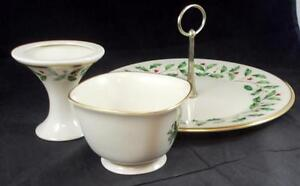 Lenox-HOLIDAY-3-Piece-Assortment-Dimension-shape-no-signs-of-use-A-CONDITION