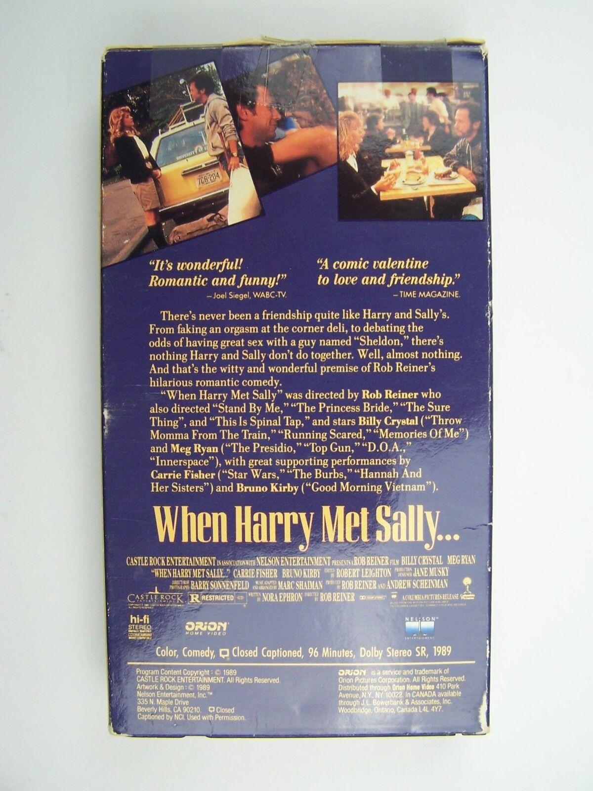 When Harry Met Sally... VHS Video Tape Billy Crystal Me