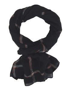 Bufanda-hombre-negro-rayas-de-colores-Ella-Jonte-LIGERO-NEGRO-bufanda-viscosa