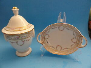 VINTAGE-KAISER-GERMANY-CANDY-JAR-AND-OVAL-PLATTER