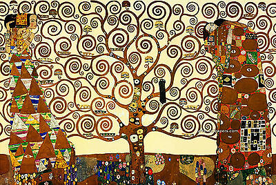 "Gustav Klimt. TREE OF LIFE. Large 24""x 34"", ART Reproductin- CANVAS PRINT"
