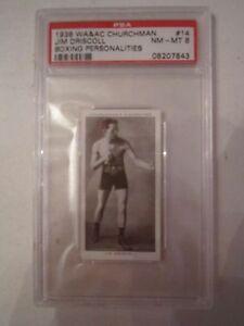 1938-JIM-DRISCOLL-BOXING-CARD-WA-amp-AC-CHURCHMAN-PSA-GRADED-8-NM-MINT-14