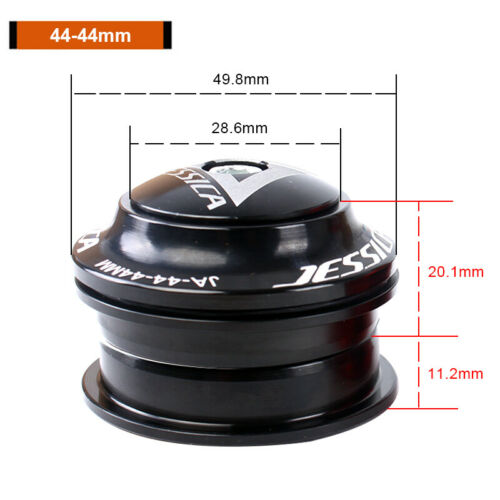JESSICA MTB Road Bike 44mm Headset 1-1//8 Threadless 28.6mm Straight Tube Headset