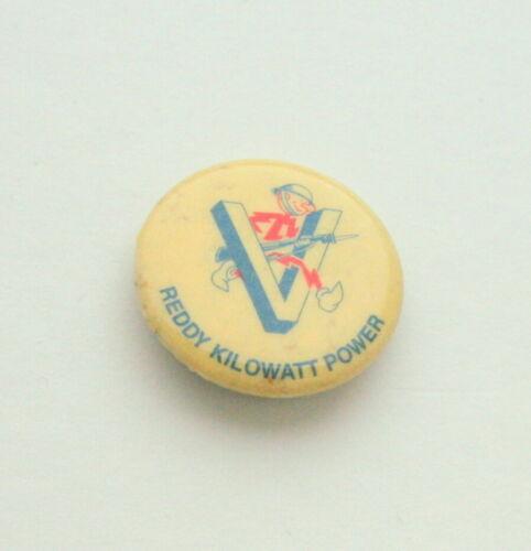 Reddy Kilowatt Electric Power Utility WWII V Victory Button Pin NOS New 1942