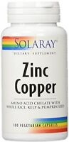 100 Zinc Copper Capsules, Health Supplements Minerals Antioxidant Enzyme No Soy on sale