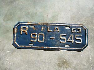 Florida-1963-Moto-Matricula-90-545