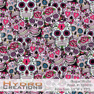 HYDROGRAPHIC FILM FOR HYDRO DIPPING WATER TRANSFER FILM SUGAR SKULLS