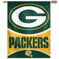 Green Bay Packers Wincraft Nfl 27x37 Banner/vertical Flag Free Ship, Brand