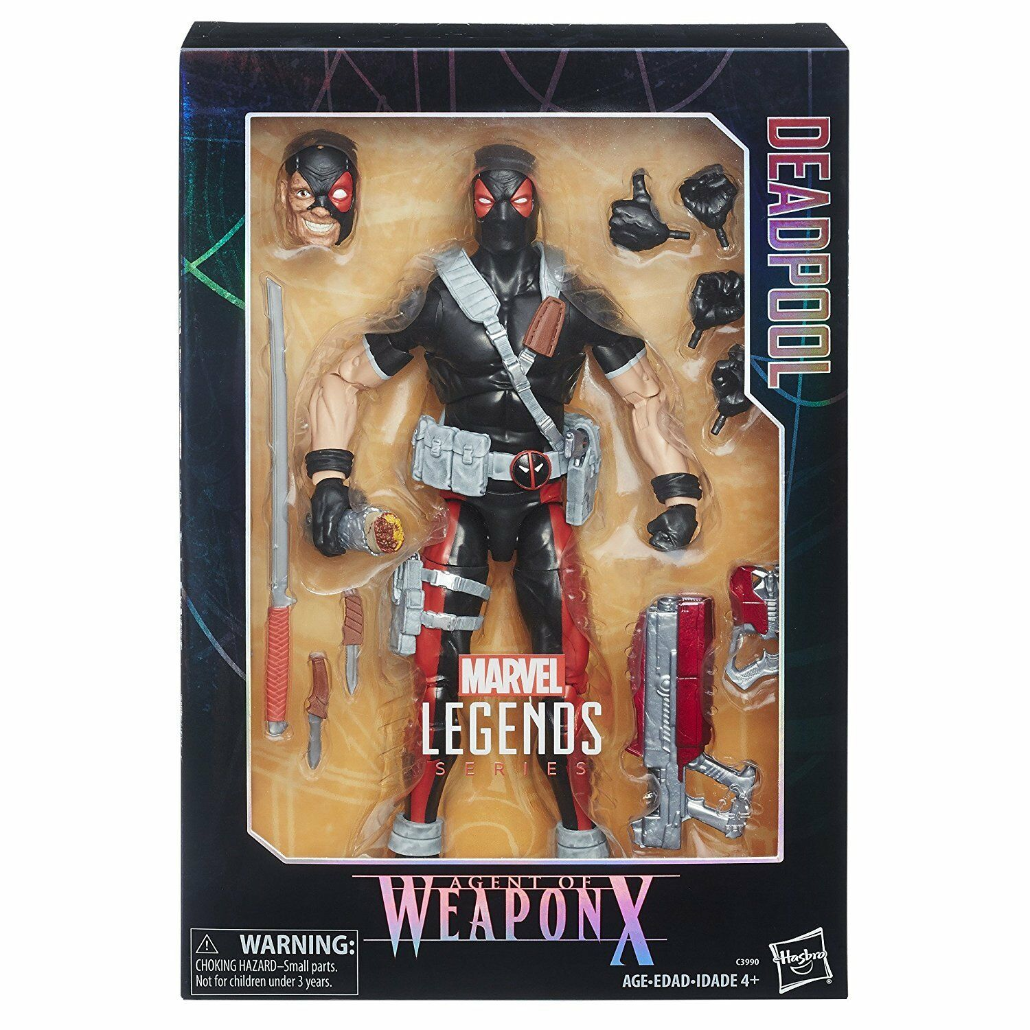 Marvel legends series agent waffe x 12-inch für deadpool action - figur