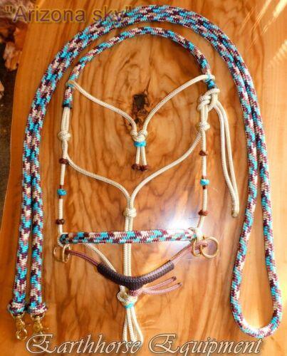"Earthhorse Equipment,Western brow bitless bridle /""Arizona Sky/"""