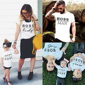106688b442 Mom Dad Baby Kids T-Shirts Family Matching Clothes Little Big ...