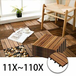 Terrassenfliesen-1-10-Holzfliesen-Klickfliesen-Garten-Balkon-30x30cm-Platten