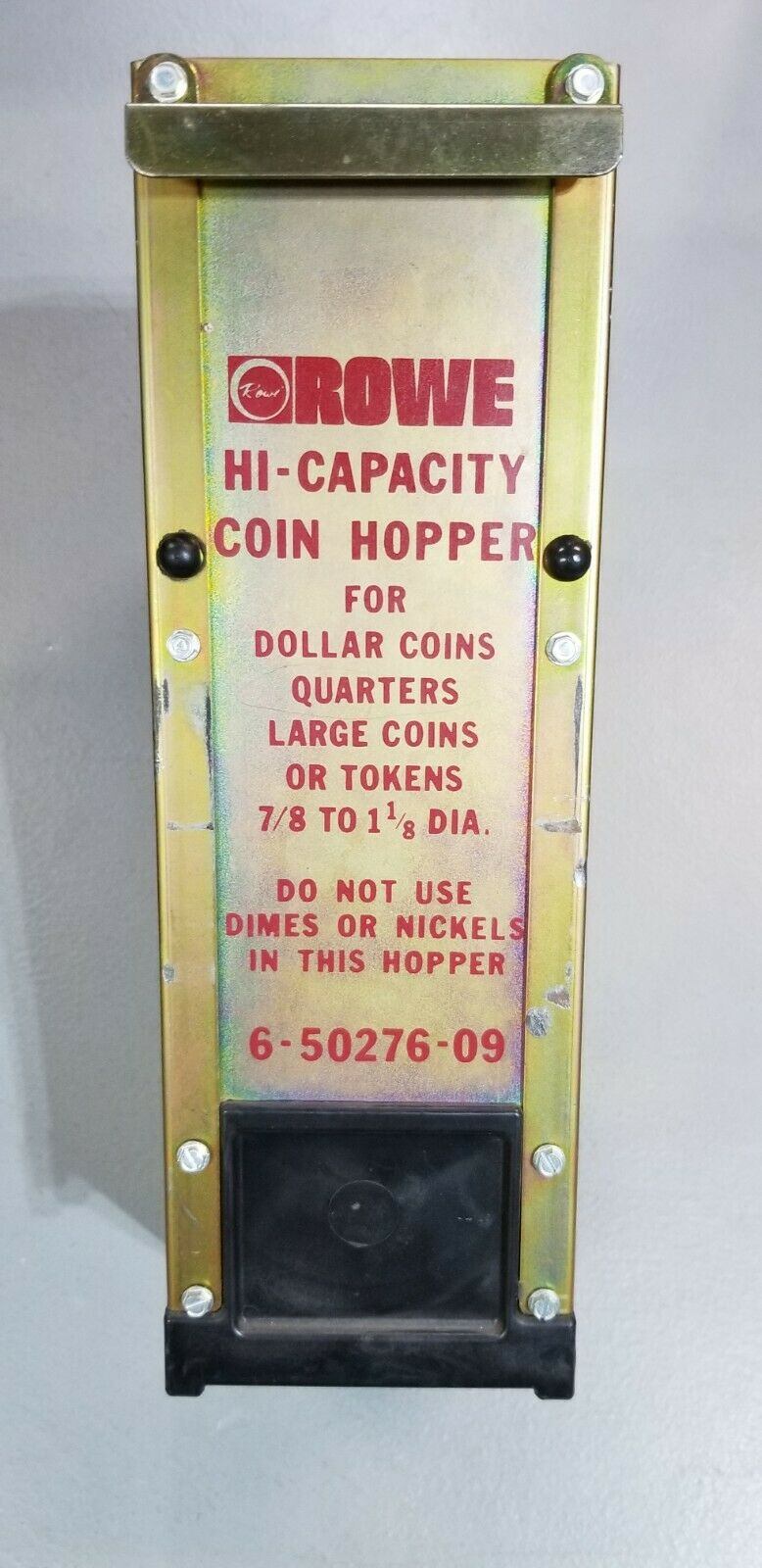 Rowe Change quarters /& large tokens Hi Capacity hopper BC 35 or BC 3500 working