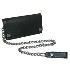New Dickies Men's Leather Trucker Chain Wallet with Snaps