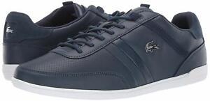Uomo-Scarpe-LACOSTE-Giron-119-Leather-Fashion-Scarpe-da-ginnastica-37CMA0081092-Blu-Marino-Bianco