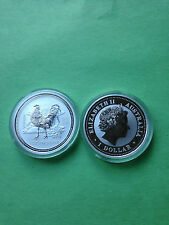 2005 1 oz Silver Lunar Year of the Rooster (Series I)