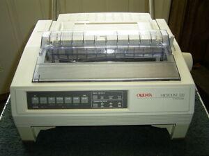 OKIDATA Microline 520 9-Pin Dot Matrix Printer, With Bottom Tractor Feed Unit
