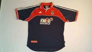 half off 0f66b 3a069 Details about Vintage 90s Adidas Benfica Soccer Jersey Shirt Size L Netc.pt