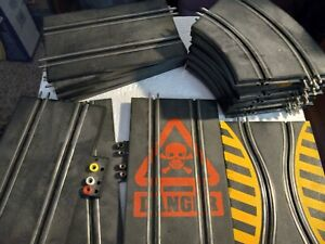 ARTIN--Slot Car Track--Mixed Lot--Straight, Curved, Power, DANGER Track and More