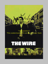 """THE WIRE PP SIGNED 12""""X8"""" POSTER DOMINIC WEST"""