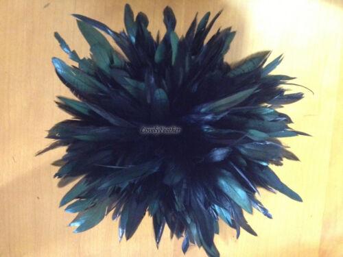 environ 1.83 m Trim ~ Coque Feather Fringe noir irrisé Color 2 Yd