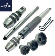 Lathe Tailstock Tap And Die Holder Set Mt3 Shank Threading Tapping Kit 8 Pc Set