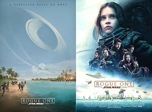 SET of 2 - Movie Poster Original ROGUE ONE: A STAR WARS ...