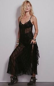 Sheer maxi slip dress