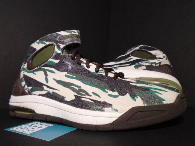 2006 Nike Zoom AIR MAX HUARACHE 2K4 CAMO WHITE BROWN ARMY OLIVE GREEN PINE 11.5