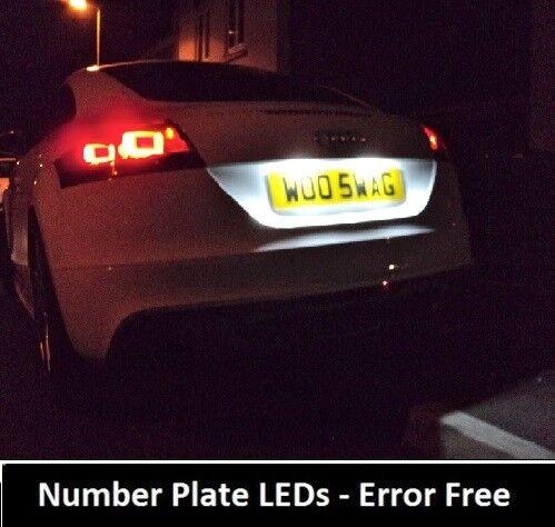 2018 PREMIUM Audi TT Mk1 1998-2006 8N3 Canbus LED Number Plate Light Bulbs