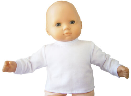 """White Mock Turtleneck Top for Bitty Baby 15/"""" Doll Clothes HANDMADE IN USA"""