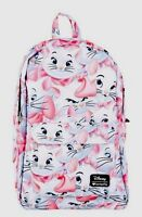 Disney Aristocats Marie Faces Cat School Book Bag Backpack With Tags