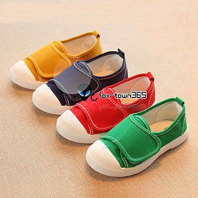 Summer Spring Girls Boys Juniors Child Kids Baby Canvas Big Velcro Rabbit Shoes