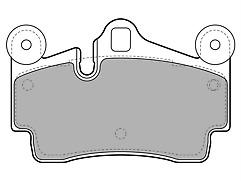 Rear Delphi Lockheed Brake Pads For Audi Q7 Porsche Cayenne VW Touareg LP1998