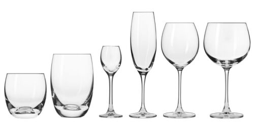 36tlg Wodkagläser Sektgläser Weingläser Whiskygläser Saftgläser Brandy Set Glas