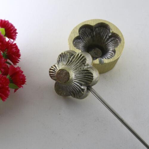 Herramienta de toma de sombrerería Flor de Hierro Hojas Pétalos Flor De Cuero-Molde Molde