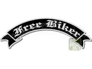 r ckenaufn her patch free biker schleife oben 30cm stick. Black Bedroom Furniture Sets. Home Design Ideas