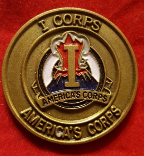 America's Corp I Corp DCG Excellence Award Challenge Coin VINTAGE AUTHENTIC
