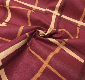 GORGEOUS-RED-CHECK-LINEN-FABRIC-8-METRES