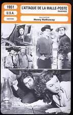 L'ATTAQUE DE LA MALLE POSTE - Power,Hayward,Hathaway (Fiche Cinéma)1951 Rawhide