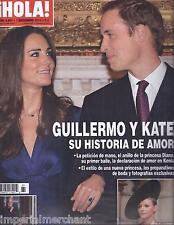 Hola magazine Kate Middleton Prince William Oscar de la Renta Norma Duval