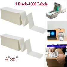 Fanfold 4 X 6 Direct Thermal Labels Barcode Labels For Zebra Rollo Printer Ups